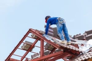 roofer on roof pitch