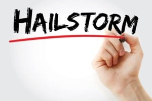 Interstate Roofing repairs hail damaged roofs